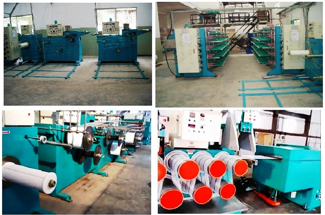 Filament extrusion line for the use with Raschel Knitting Machines